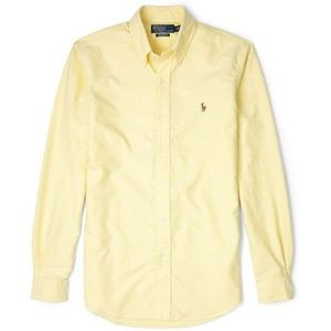 Ralph Lauren yellow slim fit oxford button up